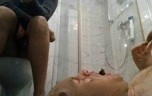 LadyMilena Loser Toilet eating fresh shit