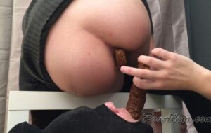 Suppkakiem Real Monster-shit in mouth from with PooAlina human toilet [HD / 2020]