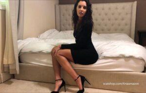 Heels black dress worship bedroom piss and poop with TinaAmazon [FullHD]