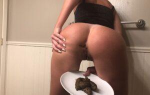 Sexy dress creamy shit on a plate with TinaAmazon Scat Porn [UltraHD4K]