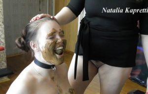 Eat my tasty shit, my happy toilet with Mistress Natalia Kapretti