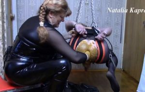Suck shitty cock, eat sperm with shit with Mistress fetish Scat Slave